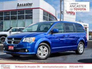 Used 2018 Dodge Grand Caravan CREW - 1 OWNER|NO ACCIDENTS|ALLOYS|STOW'N GO for sale in Ancaster, ON