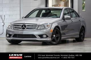 Used 2010 Mercedes-Benz C-Class C 300 4 MATIC; CUIR TOIT BLUETOOTH MAGS BAS KILO BAS KILOMÉTRAGE - CONDITION IMPECCABLE - SUSPENSION SPORT - TOIT-OUVRANT - BLUETOOTH - MAGS 17'' for sale in Lachine, QC