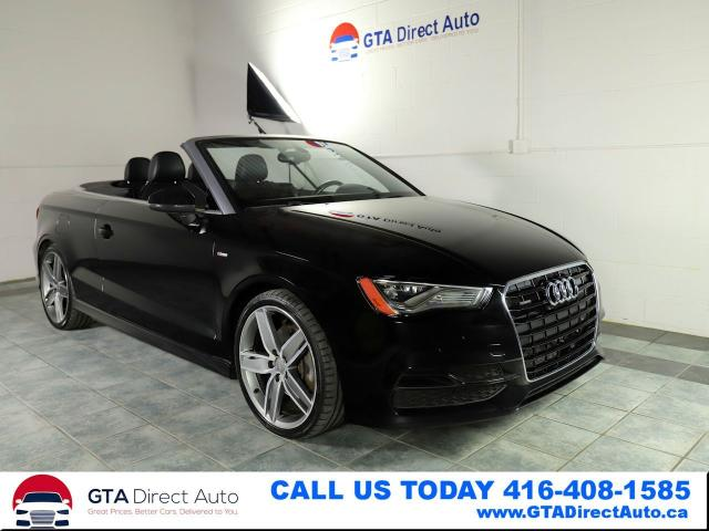 2015 Audi A3 Cabriolet Progessive Quattro S-Line AWD Certified