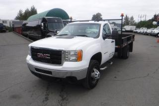 Used 2012 GMC Sierra 3500 HD Regular Cab 2WD Dually 12 Foot Flat Deck for sale in Burnaby, BC