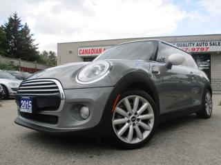 Used 2015 MINI Cooper 3C--NAVIGATION-LEATHER-PANO-ROOF-BTOOT-HTED-TURBO for sale in Scarborough, ON