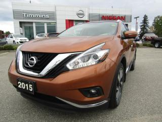 Used 2015 Nissan Murano Platinum for sale in Timmins, ON