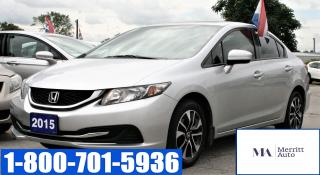 Used 2015 Honda Civic LX|Backup & blind spot camera| Bluethooth for sale in London, ON