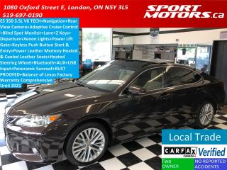 Used 2015 Lexus ES 350 TECH+GPS+Camera+Adaptive Cruise+Lane Departure for sale in London, ON