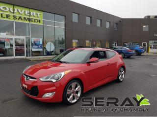 Used 2014 Hyundai Veloster TECH, 57888 KM, CAMERA, CUIR, NAV, MAGS, TOIT PANO for sale in Chambly, QC