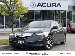 Used 2015 Acura TLX 2.4L P-AWS w/Tech Pkg Navi, Backup Cam, Blind Spot Info for sale in Markham, ON