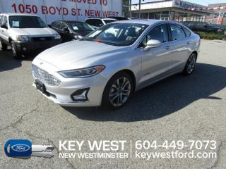 Used 2019 Ford Fusion Hybrid Titanium Sunroof Leather Cam Sync 3 Lane Keeping for sale in New Westminster, BC