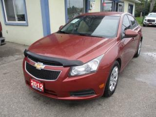 Used 2012 Chevrolet Cruze FUEL EFFICIENT 1-LT EDITION 5 PASSENGER 1.4L - TURBO.. CD/AUX/USB INPUT.. KEYLESS ENTRY.. for sale in Bradford, ON