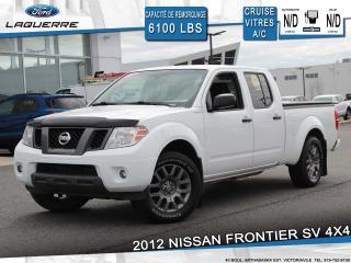 Used 2012 Nissan Frontier SV 4WD**CREWCAB*CRUISE*A/C* GR. ELECTRIQUE** for sale in Victoriaville, QC