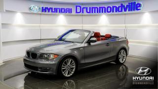 Used 2011 BMW 1 Series CONVERTIBLE + MAGS + CUIR ROUGE + CRUIS for sale in Drummondville, QC