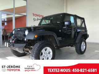 Used 2015 Jeep Wrangler * SPORT * MAGS * for sale in Mirabel, QC