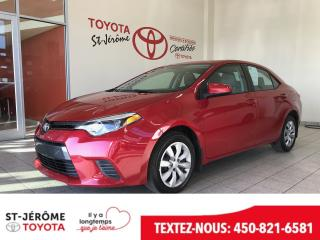 Used 2016 Toyota Corolla * LE * 58 000 KM * CAMÉRA * SIÈGES CHAUFF for sale in Mirabel, QC