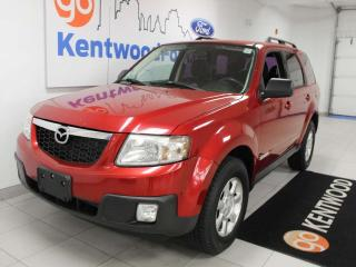 Used 2008 Mazda Tribute GX FWD 5-SPD manual in bright red for sale in Edmonton, AB
