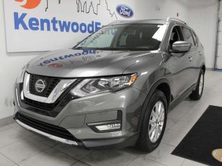 Used 2018 Nissan Rogue SV AWD with a sunroof, power seats, push start/stop and a back up cam for sale in Edmonton, AB