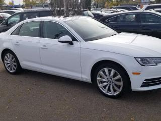 Used 2017 Audi A4 KOMFORT; BLUETOOTH, HEATED SEATS, LEATHER, SUNROOF AND MORE for sale in Edmonton, AB