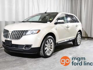 Used 2014 Lincoln MKX AWD | SIGHT + SOUND PACKAGE | BLIND SPOT MONITORING | ADAPTIVE CRUISE | NAVIGATION | HEATED + COOLED FRONT SEATS | HEATED BACK SEATS | BACKUP CAMERA for sale in Red Deer, AB