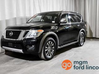 Used 2018 Nissan Armada SL 4WD 7- PASSENGER SEATING | MOONROOF | HEATED FRONT SEATS | NAVIGATION | REMOTE START | TOW PACKAGE for sale in Red Deer, AB