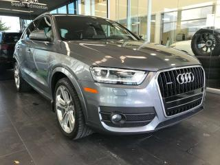 Used 2015 Audi Q3 Progressiv AWD, ACCIDENT FREE, PANORAMA SUNROOF, POWER HEATED LEATHER SEATS, PADDLE GEAR SHIFTS for sale in Edmonton, AB