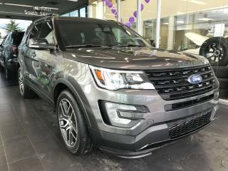 Used 2017 Ford Explorer SPORT AWD, ACCIDENT FREE, SUNROOF W/MOONROOF, POWER HEATED/VENTED LEATHER SEATS, NAVI for sale in Edmonton, AB