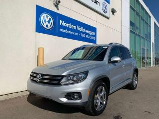 Used 2013 Volkswagen Tiguan HIGHLINE R-LINE W/ TECH PKG - LEATHER / SUNROOF for sale in Edmonton, AB