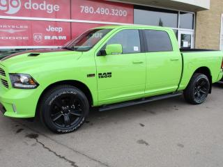 Used 2017 RAM 1500 Sport 4x4 Crew Cab / GPS Navigation / Back Up Camera for sale in Edmonton, AB