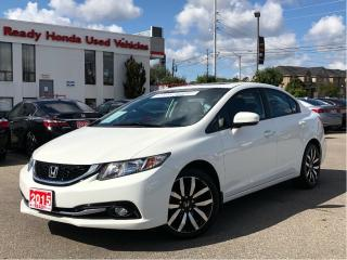 Used 2015 Honda Civic Sedan Touring - Leather - Navigation - Sunroof for sale in Mississauga, ON