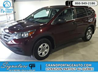 Used 2013 Honda CR-V LX AWD Auto A/C for sale in Rivière-Du-Loup, QC