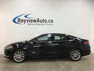 Used 2018 Ford Fusion Energi SE Luxury - ONLY 6000KMS! LEATHER! NAV! EXT RANGE PLUG-IN HYBRID! for sale in Belleville, ON