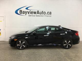 Used 2018 Honda Civic Touring - HTD LEATHER! NAV! ROOF! TURBO! LOADED! for sale in Belleville, ON