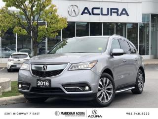 Used 2016 Acura MDX Elite SH-AWD, Navi, Ultrawide DVD for sale in Markham, ON