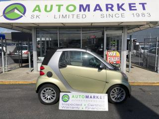 Used 2009 Smart fortwo cabriolet CONVERTIBLE!LIMITED THREE! ONLY 71 KM'S! FREE BCAA! FREE WRNTY! WE FINANCE EVERYONE! for sale in Langley, BC
