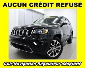 Used 2018 Jeep Grand Cherokee LIMITED 4X4 RÉGULATEUR ADAPTATIF NAV CUIR *BAS KM* for sale in Mirabel, QC