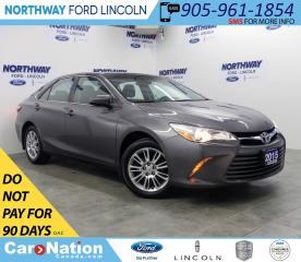Used 2015 Toyota Camry LE | BACKUP CAM | BLUETOOTH | USB+AUX | CRUISE | for sale in Brantford, ON