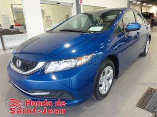 Used 2014 Honda Civic LX 4 portes CVT A/C Sieges Chauffants for sale in St-Jean-Sur-Richelieu, QC