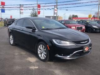 Used 2015 Chrysler 200 PANO ROOF*BACKUP CAM*HEATED WHEEL*NAV for sale in London, ON
