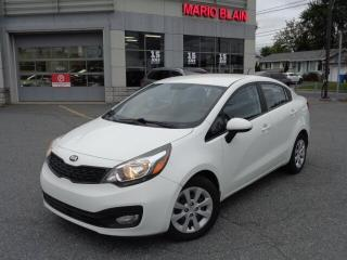 Used 2013 Kia Rio LX+ * BLUETOOTH * DÉMAREUR * for sale in Mcmasterville, QC