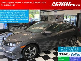 Used 2019 Honda Civic LX+Lane Departure+Adaptive Cruise+Apple Play+Camer for sale in London, ON