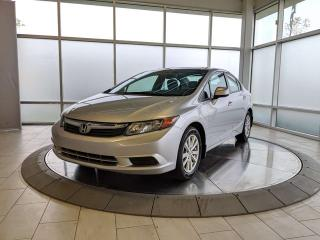 Used 2012 Honda Civic Sdn LX - One Owner! Accident Free Carfax! for sale in Edmonton, AB