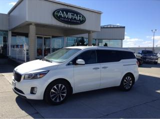 Used 2015 Kia Sedona SX+ / LEATHER / NO PAYMENTS FOR 6 MONTHS for sale in Tilbury, ON