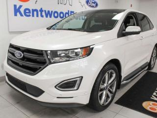 Used 2016 Ford Edge Sport AWD ecoboost with NAV, sunroof, heated/cooled power leather seats, heated rear seats, heated steering wheel, back up cam and keyless entry for sale in Edmonton, AB
