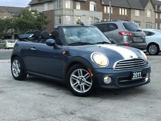 Used 2011 MINI Cooper Convertible Accident free|Leather|Alloys|Low Mileage for sale in Burlington, ON