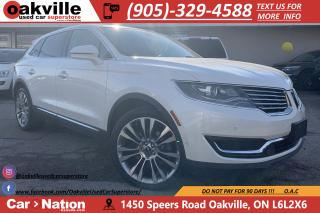Used 2016 Lincoln MKX RESERVE | NAVI | PANOROOF | 360 CAM | HTD VNTD for sale in Oakville, ON