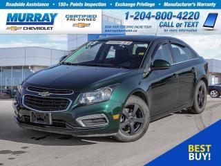 Used 2015 Chevrolet Cruze LT 1LT *Wi-Fi Hotspot, Keyless Entry, Remote Start for sale in Winnipeg, MB