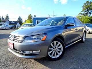 Used 2013 Volkswagen Passat Highline TDI DSG Suede on Leather Sunroof Bluetooth Certified for sale in Guelph, ON