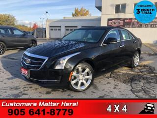Used 2015 Cadillac ATS 2.0 Turbo Luxury  AWD NAV ROOF CAM for sale in St. Catharines, ON