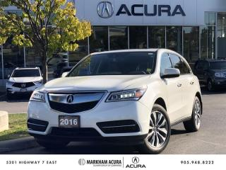 Used 2016 Acura MDX Navi SH-AWD, Backup Cam, Heated Steering Wheel for sale in Markham, ON