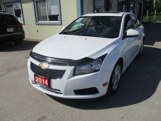 Used 2014 Chevrolet Cruze LOADED LT MODEL 5 PASSENGER 2.0L - DIESEL.. LEATHER.. HEATED SEATS.. POWER SUNROOF.. BACK-UP CAMERA.. BLUETOOTH SYSTEM.. PIONEER AUDIO.. for sale in Bradford, ON
