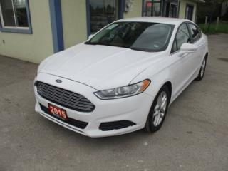 Used 2015 Ford Fusion LOADED SE EDITION 5 PASSENGER 2.5L - DOHC.. LEATHER.. SYNC TECHNOLOGY.. BACK-UP CAMERA.. CD/AUX/USB INPUT.. BLUETOOTH SYSTEM.. for sale in Bradford, ON