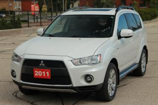 Used 2011 Mitsubishi Outlander XLS 7 Passenger | Sunroof | Leather | CERTIFIED for sale in Waterloo, ON