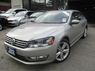 Used 2012 Volkswagen Passat TDI-HIGHLINE-NAVI-LTHER-ROOF-BTOOT-HETAED-DIESEL for sale in Scarborough, ON